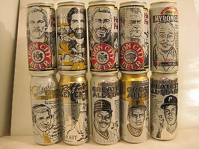 10 can lot Iron City cottectors beer cans