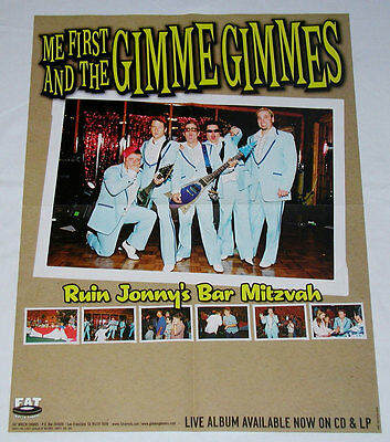 ME FIRST AND THE GIMME GIMMES Ruin Jonny's Bar Mitzvah Poster - Fat Wreck - RARE