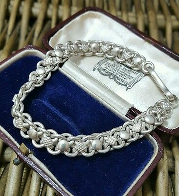 Vintage 925 Sterling Silver Men's Bracelet, Superb Knotted Design, Heavy
