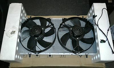 Mgtf Le500 Mgf Genuine Mg New Radiator & Twin Fans With Uprated Alloy Nipple