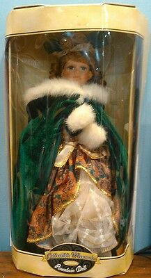 """Collectible Memories  Porcelain Doll, 18"""" Never Opened"""