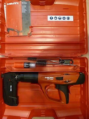 HIlti DX 460  MX 72 powder actuated  direct fastening nailer with carry case