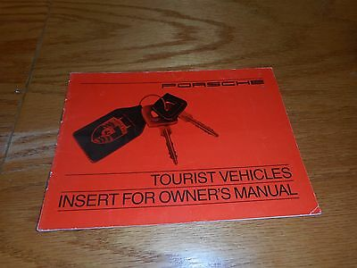1983 1984 Porsche European Delivery booklet tourist vehicle insert for owners ma