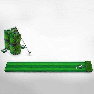 Golf Putting Green Golf Training Aid Mat Travel Portable Indoor Golfing Supplies