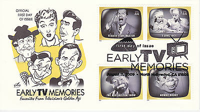 Artcraft First Day Cover 2009 Early Favorite T.v. Memories Multiple Stamps #2