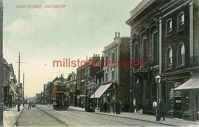 Printed Postcard Of The High Street, Hounslow, (London), Middlesex