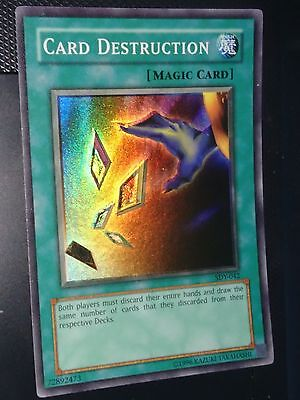 yu-gi-oh carta CARD DESTRUCTION SDY-042 -  super rare
