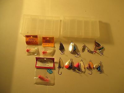 SALMON TROUT STEELHEAD LURE/JIG/SPINNER Lot of 13 W/2 Cases ~