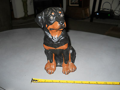 "10"" In Resin Rottweiler Statue"