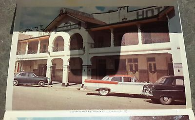 c1950 Benalla Victoria Vintage postcard hotel pool buildings streets old cars