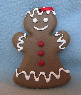 "Mrs. Gingerbread Man Woman 3.75"" Christmas Ornament"