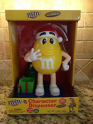 2016-Yellow-M&m Character Musical Christmas Candy Dispenser Nip
