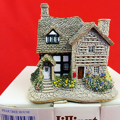 "Lilliput Lane PEAR TREE HOUSE 3.25"" tall made in England NEW IN BOX NEVER SOLD"