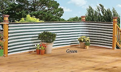 New Easy Install Privacy Deck Screen Fence Netting Yard Pool Green White Stripe