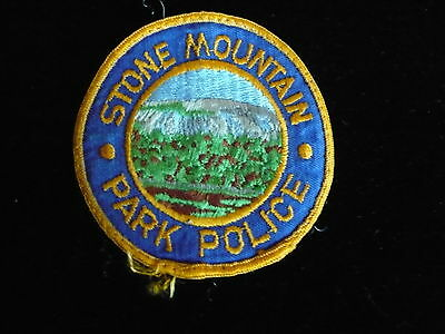 Stone Mountain Park Police Patch   Georgia   Older Round Patch