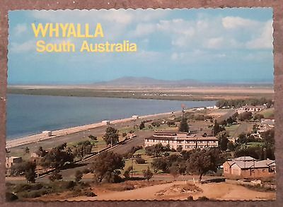 Vintage postcard Whyalla foreshore beach south Australia 1970s