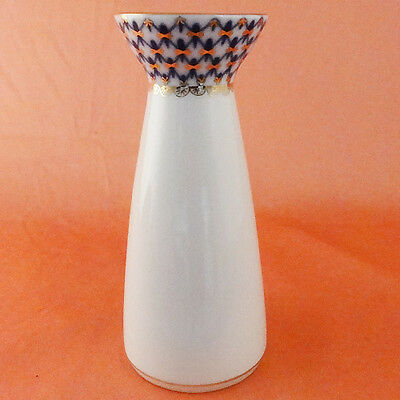 """Lomonosov Vase 6.25"""" Tall Russian Imperial NEW NEVER USED hand decorated Russian"""