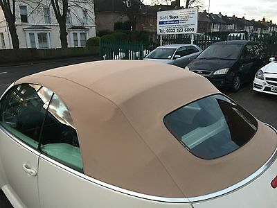 VW Beetle 2002-2010 New Tan Mohair Hood with Heated Glass Window