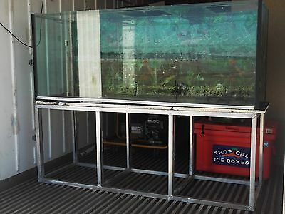 LARGE GLASS FISH TANK with WOODEN CABINET for BASE and GLASS LIDS