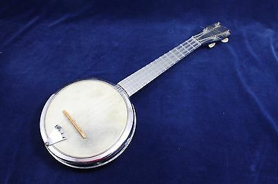 Vintage Early Model DIXIE Chrome Metal Banjo / Ukulele ( banjolele)