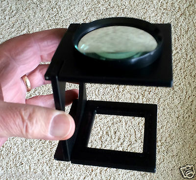 Giant Stand-Alone FOLDING MAGNIFIER 65mm Glass Lens/COINS/STAMPS INSECTS/BUGS***