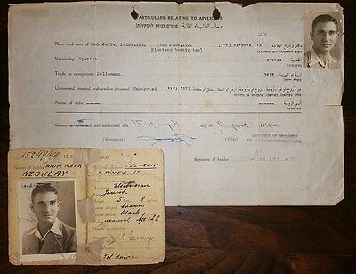 Israel Palestine Pre-Independence Citizenship and Id Papers