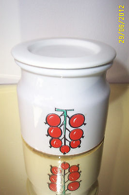 Arabia Finland Lidded Conserve Pot ( Red berries)