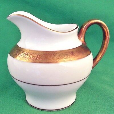"BUCKINGHAM Minton Creamer 4"" tall NEW NEVER USED 24k gold made in England"