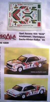 OPEL ASCONA 400 n° 4 SACHS WINTER RALLYE 1981 DECAL 1/43e