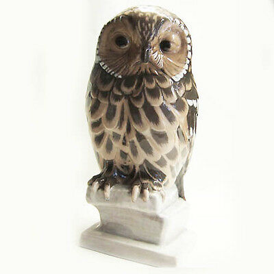 """OWL LARGE HAND PAINTED 10"""" tall NEW NEVER SOLD Bing & Grondhal made in Denmark"""
