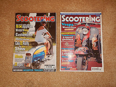 Scootering magazines august 2012 and january 2006