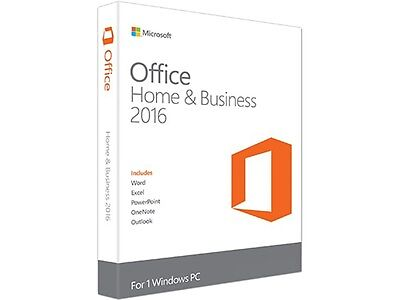 Microsoft Home and Business 2016   1 PC   *BRAND NEW FACTORY SEALED*