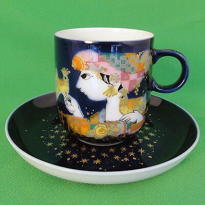 ALADDIN Cup & Saucer Bjorn Wiinblad designed Rosenthal Germany NEW NEVER USED