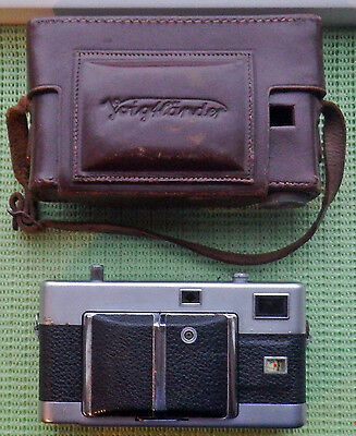 CASED VOIGTLANDER VITESSA RANGEFINDER CAMERA 50mm f2 ULTRON LENS