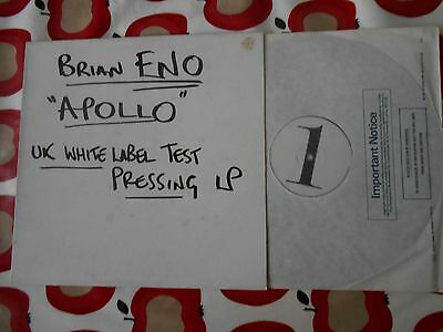 Brian Eno original UK TEST PRESSING Apollo LP