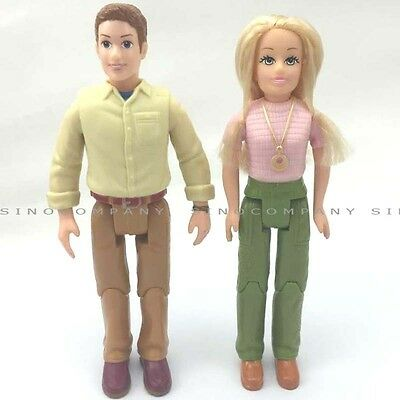 Hot Toys 2pcs Fisher Price Loving Family The Couple Mom Dad Figure For Dollhouse