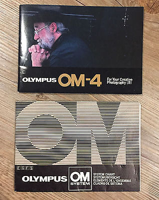 Olympus  OM-4  (A) + (B) complete instruction book