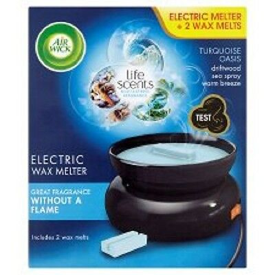 Air Wick Electric Wax Melter TURQUOISE OASIS complete with 2 wax melts
