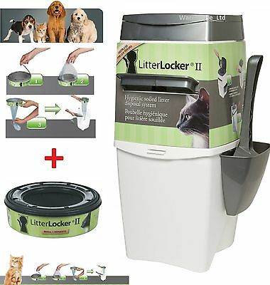 Litterlocker II Cat Kitten Litter Locker Disposal System Pail + REFILLS OFFERS