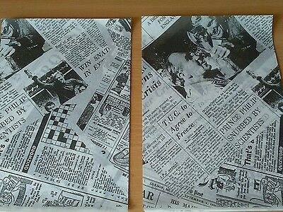 Greaseproof Paper Newspaper suitable for Chip Cones, Buckets 250 x 150