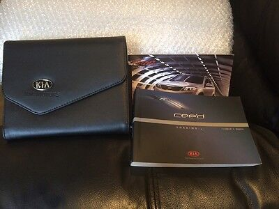 Kia Cee'd Owners Hand Book Manuals2014 Black Wallet