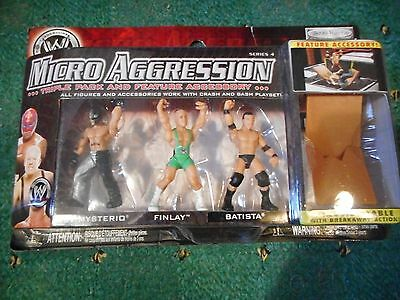Wwe 3 Figure Pack Of Micro Aggression New In Box