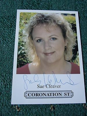Signed Coronation Street Sue Cleaver Cast Card
