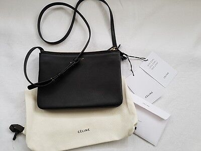 NEU Celine Trio Bag Small Tasche Black Lambskin NEW