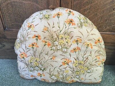 Lovely insulated TEA COSY with orange flower and primrose design.