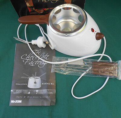 The Chocolate Factory - Chocolate Making Kit & Fondue Set with Forks