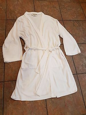 NEW M & S Presence Waffle Dressing Gown White - UK 12/14 RRP £20.00