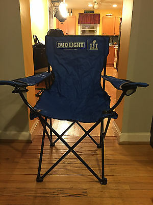 Brand New Bud Light Super Bowl Li (51) Collapsible Tailgate Chair