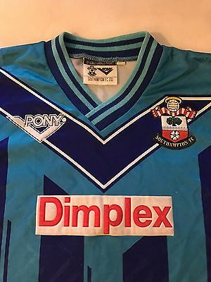 """Southampton Football Shirt, Size 26/28"""" Chest, 1993-95, Away, EXTREMELY RARE."""