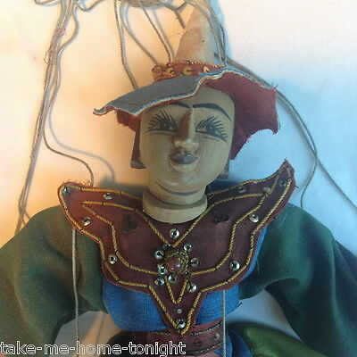 Marionette Ancient Burmese Warrior Old Captain Soldier Knight Burma Puppet
